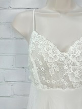 Victoria's Secret Short Night Gown Nightie Ivory/White Sheer Lace Bridal Sz M - $29.28