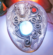 Haunted Necklace 27X Shamanic Drum Journey Magick 925 Tribal Witch CASSIA4 - $39.00
