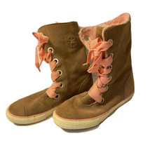 Womens Converse All-Star X-Hi Suede Chuck Winter Boots w/ Pink Shearling... - $34.64