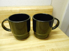 tupperware black coffee cups - $18.95