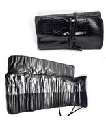 Black Cosmetic Brushes Makeup Case Set Pouch PRO Professional Beauty 25p... - $24.74