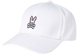 Psycho Bunny Men's Embroidered Lightweight Snapback Sports Baseball Cap Hat