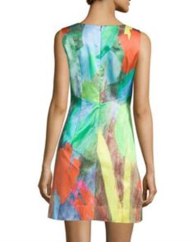 Milly NY Tulip Print Mini Dress Work Dress Size 6 $450 New