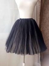 BLACK WHITE Tutu Skirt Designer Adult Tutus Photography Prop Elastic Plus Size image 4