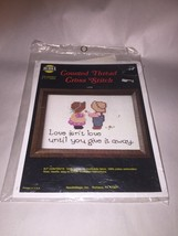 """LOVE ISNT LOVE  Counted Cross Stitch NMI NeedleMagic Kit #710 ~ Size 5"""" ... - $10.58"""