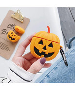 Halloween Pumpkin Pattern Protective Case Soft Silicone Cover for Airpod... - $6.99