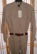 Vtg 80s 90s Lizsport Khaki belted cotton jumpsuit Romper Playsuit NWOT S... - $69.25