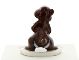 Hagen-Renaker Miniature Ceramic Figurine Chipmunk Holding Acorn on Base image 4