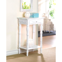 Carved White Side Table - $63.40