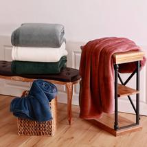 Berkshire Life Luxe Loft Blanket 1 Fold over Hem 100% Polyester Machine Washable - $23.97+
