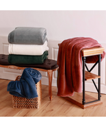 Berkshire Life Luxe Loft Blanket 1 Fold over Hem 100% Polyester Machine ... - £17.43 GBP+
