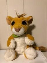 Vintage Disney Lion King Talking Simba Lion Plush Stuffed Animal 1993 Au... - $25.73