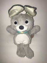 Bright starts Grey puppy Dog Peek a Boo Giggles Sound Baby Soft Toy Plush - $24.18