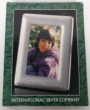 "International Silver Company Photo Frame 5x7 Silver Plated ""Friends"" Design - €17,51 EUR"