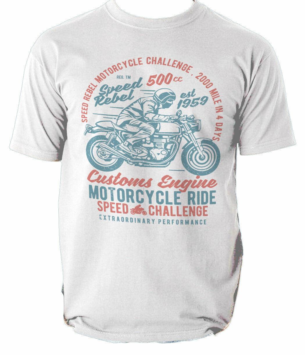 T Shirt Motorcycle Ride Biker Mens Custom Rider Speed Top Legendary Born  S-3XL