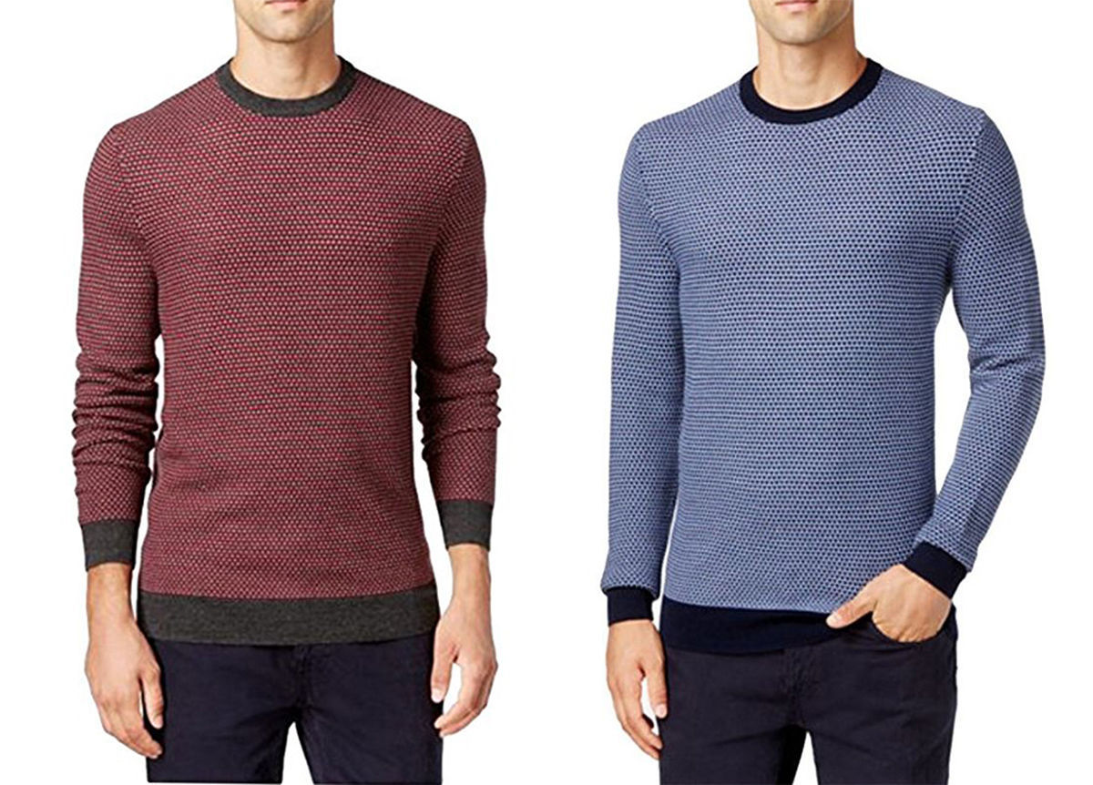 NEW MENS CLUB ROOM CREW NECK ESTATE MERINO WOOL BLEND PULLOVER SWEATER $85