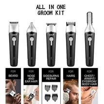CEENWES Updated Version 5 in 1 Waterproof Man's Grooming Kit Hair Clippers Profe image 3
