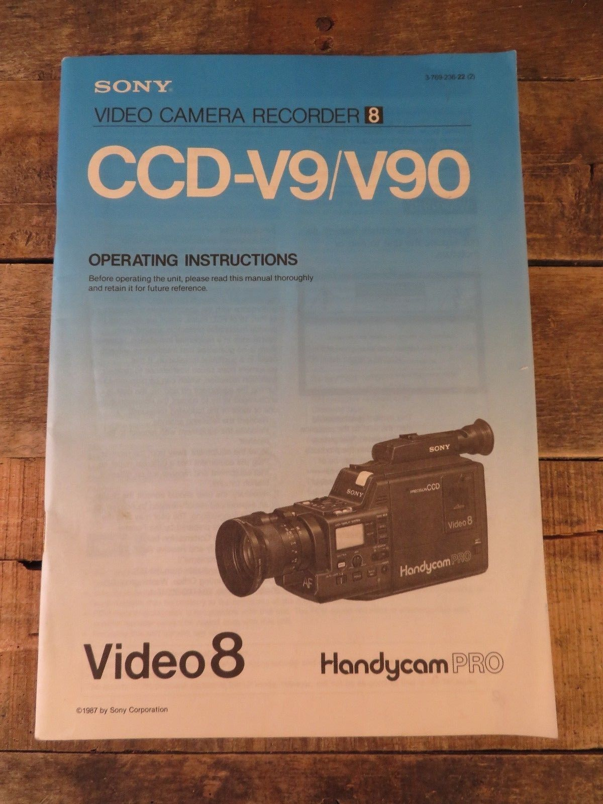Sony Video 8 Handycam Pro CCD-V9 /V90 and 25 similar items