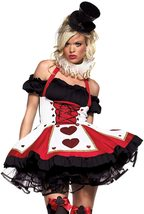 Leg Avenue Women's 2 Piece Pretty Playing Card Costume Includes Dress And Neck P