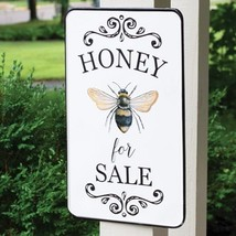 Honey For Sale Metal Wall Sign Garden Porch Country Bee Decor  - $60.00