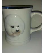 Dog Lover Collectible Coffee Tea Mug Cup Beautiful White Bichon Frise Br... - $22.76