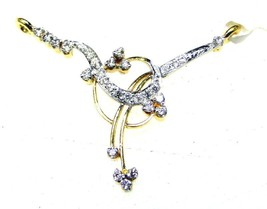 Indian Mangalsutra Ethnic Style Diamond Solid 14K Gold Wedding Pendant C... - $1,150.00