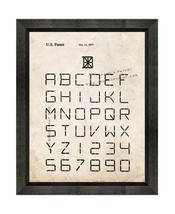 Font Of Characters Patent Print Old Look with Beveled Wood Frame - $24.95+