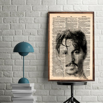 Celebrity Art Print-Johnny Depp Art Print-Movie Art Print-Johnny Depp-Ho... - $11.82