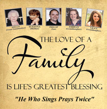 THE LOVE OF A FAMILY by Susanna, Shelia, Phillip, Jordean & Grace - CD