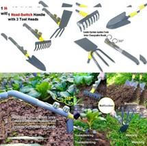 Jardineer 3 Pcs Head-Switch Hand Garden Tools-Gardening Trowel, Rake...  - $35.97