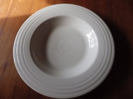 Fiesta USA White Wide Rimmed Pasta Bowl JJC (1999) USA Homer Laughlin - $14.84