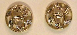 Avon Filigree Vine Leaf Earrings Clip On Gold Plate Nickel Free Button V... - $19.75