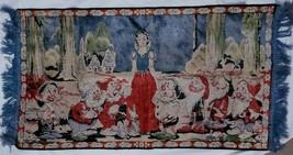 Walt Disney 1936 Tapestry Rug Snow White 7 Dwarfs Velveteen Forest Scene... - $292.05