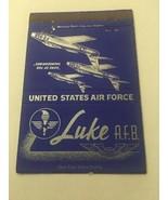Vintage Matchbook Cover Matchcover US Luke Air Force Base - $5.46