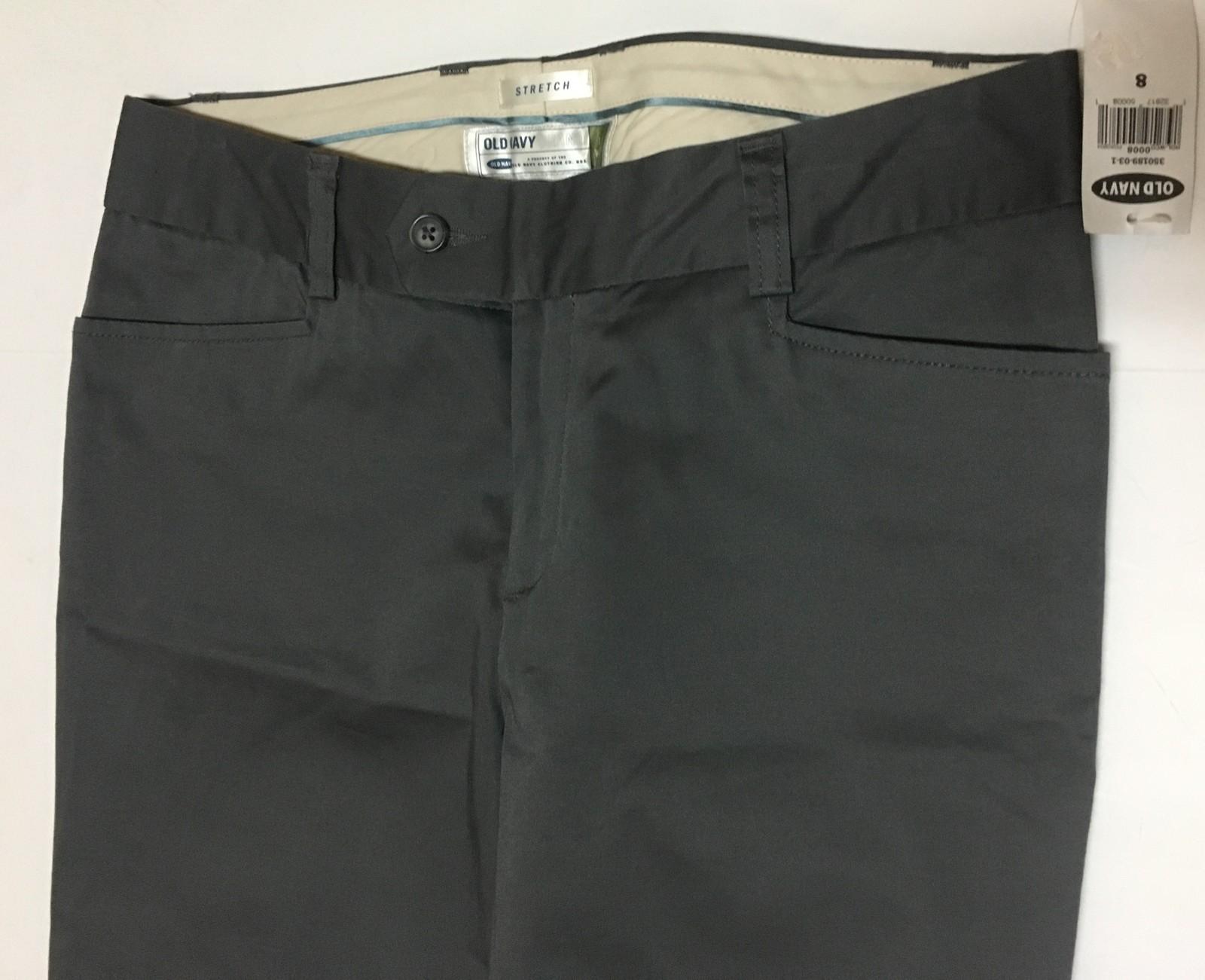 Women's Pants Dark Gray Trousers Sz 8 Old Navy Low Waist Stretch NWT