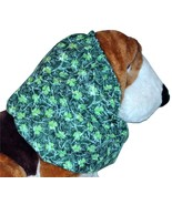 St Patricks Lucky Shamrocks and Scrolls Cotton Dog Snood by Howlin Hound... - $12.50