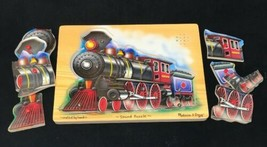 Melissa & Doug Handmade Wooden Peg Steam Train Puzzle with Noise - $11.74