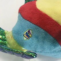 Webkinz Ganz Pucker Fish Plush Blue Red Metallic Stuffed Animal No Code image 5