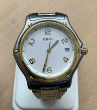 Vintage EBEL Watch 18k And Stainless Steel In Mint Condition! Men's Watch - $889.09