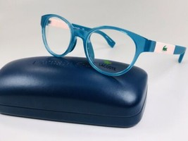 New KIDS LACOSTE L3628 466 Petrol & Pink Eyeglasses 46mm with Case - $64.30