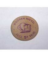 1961 HAMLIN NY CENTENNIAL STATE BANK OF HILTON WOODEN NICKEL ADVERTISING... - $5.93