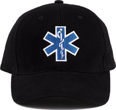 Black Official EMS EMT First Responder Adjustable Cap Paramedic Ambulanc... - $9.99