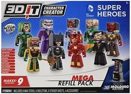 3DIT Character Creator DC Comics Mega Refill Pack Novelty Toy - $46.92