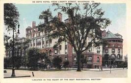 De Soto Hotel Liberty Street Savannah Georgia 1920s postcard - $6.44