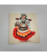 Dolls of Many Lands Card Italy Vintage Blank Note Card for Collage, Ephe... - $2.50