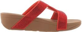 FitFlop Marli Crystal Slide Sandal RED 8 NEW 691-175 - $100.96