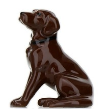 Hagen Renaker Dog Labrador Retriever Sitting Chocolate Ceramic Figurine image 1