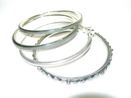 ESTATE FINE STERLING SILVER TEXTURED BEAUTIFUL BANGLE BRACELET JEWELRY LOT - $300.00