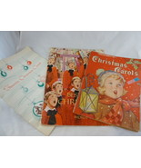 Vintage Christmas Carols Piano Books one is Illustrated lot of 3 - $14.84