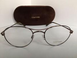 New Tom Ford TF 5331 TF5331 036 Shiny Bronze 52mm Round Eyeglasses Frame... - $179.99